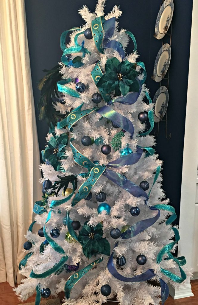 Peacock themed Christmas Tree