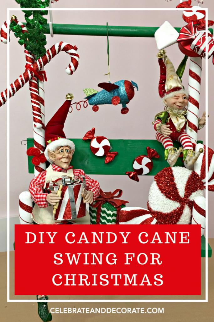 DIY Candy Cane Swing