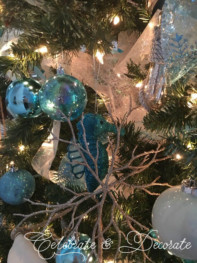 Elegant Coastal Christmas tree