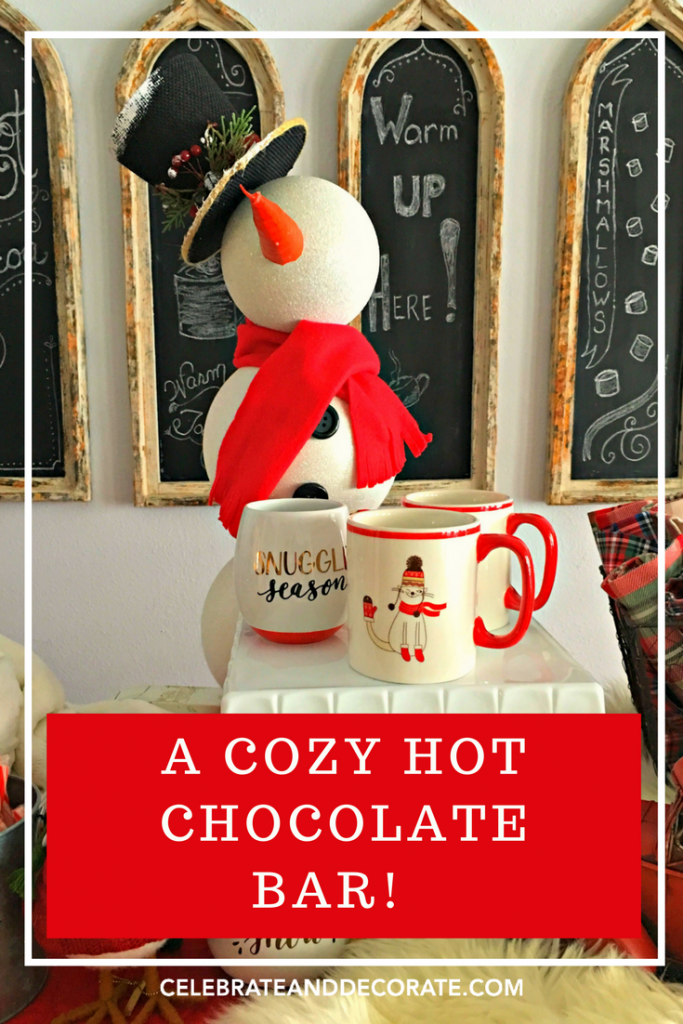 SET A HOT CHOCOLATE BAR FOR WINTER ENTERTAINING!