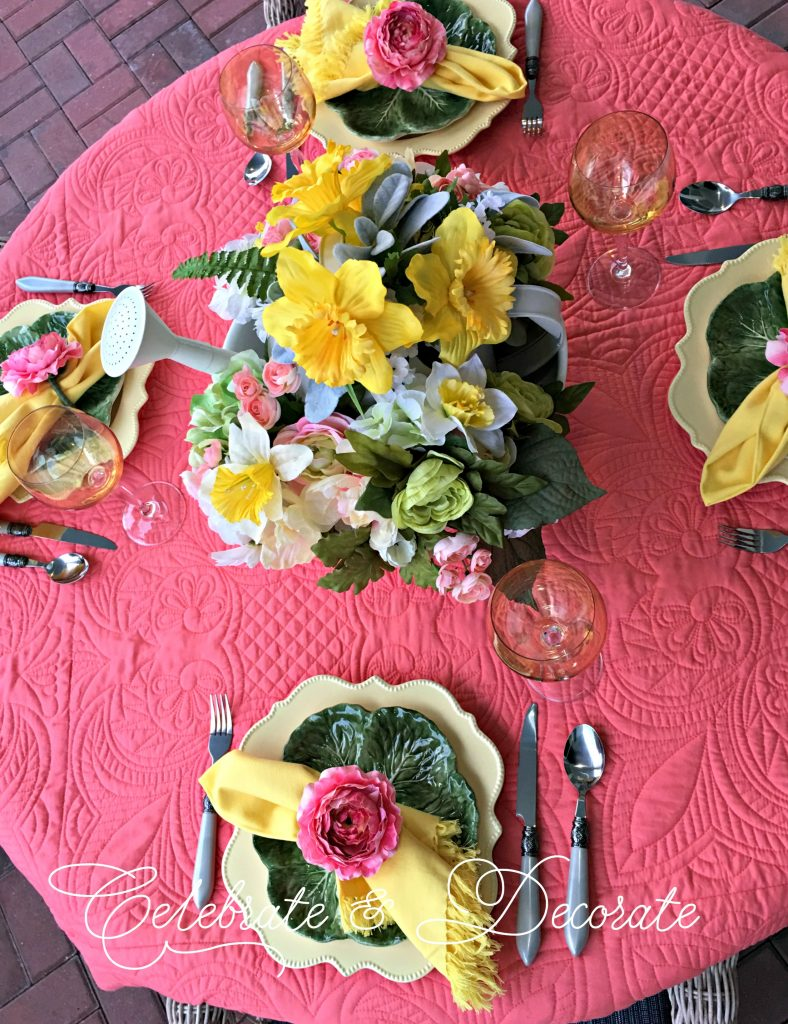 Celebrating spring with a colorful tablescape