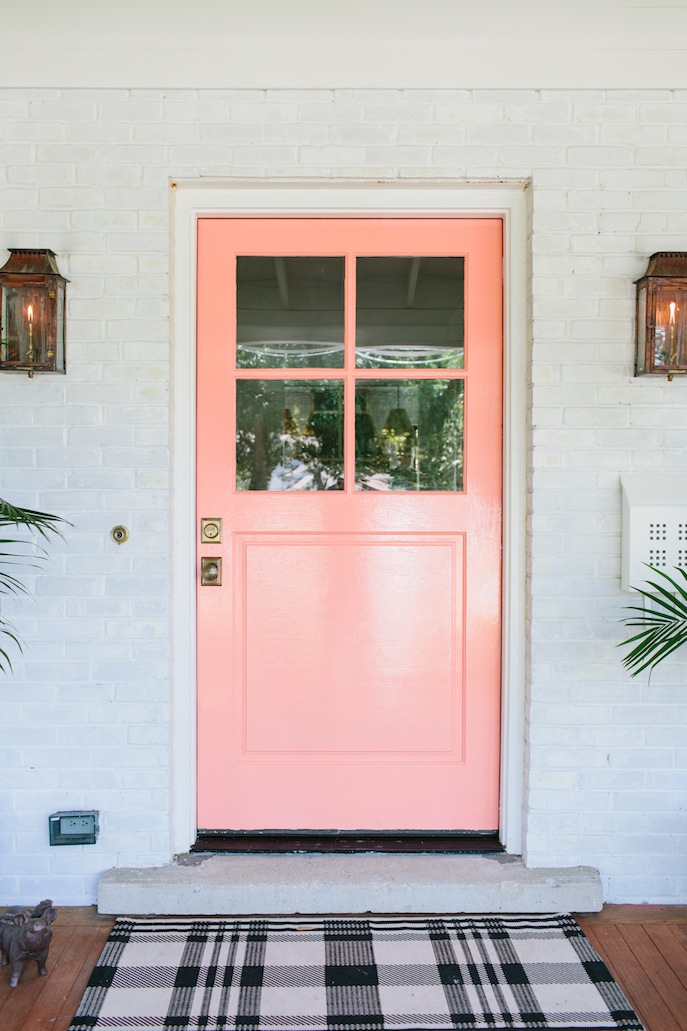 Old World Pink Front Door Celebrate Decorate