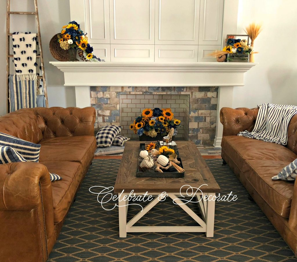 Fall decor for the family room