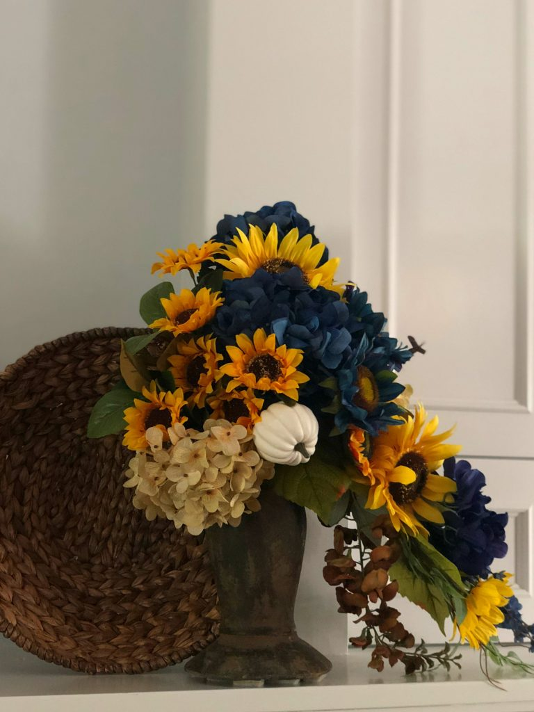 Add blue to your fall colors for a different look this Fall