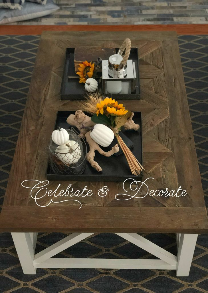 Start with your coffee table for a fall feel