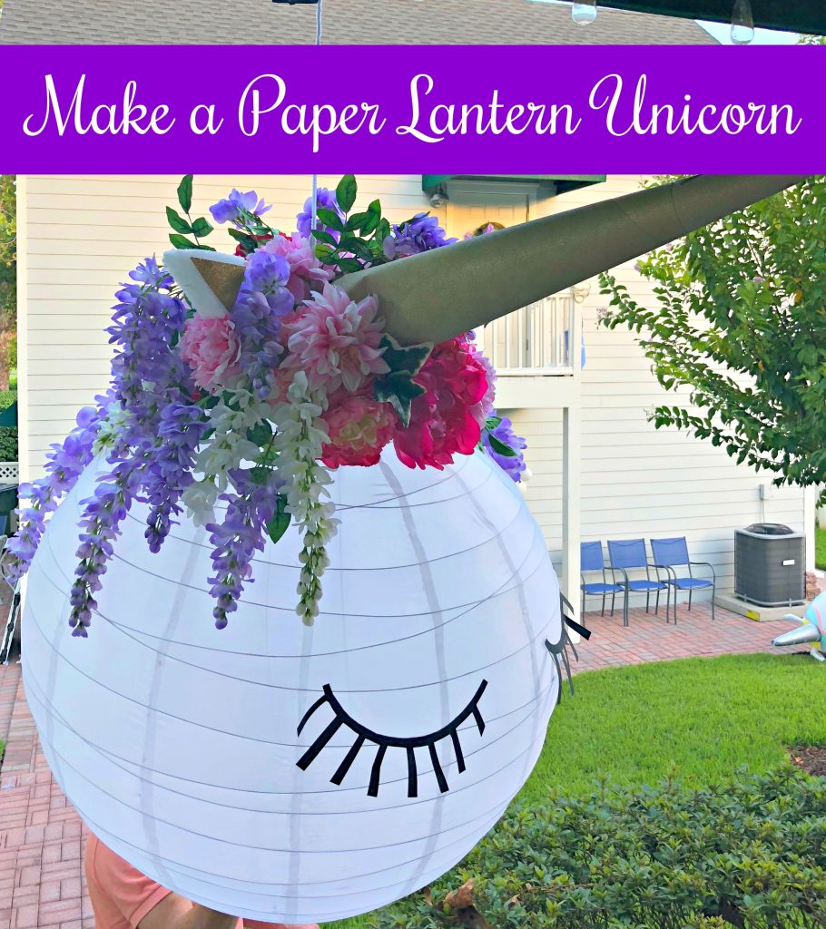 Make A Paper Lantern Unicorn Celebrate Decorate