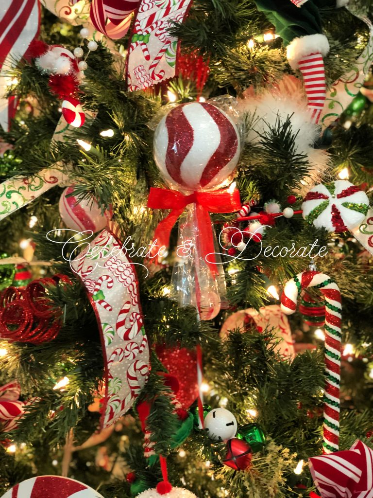 Candy Themed Christmas Decorations.Candy Themed Christmas Tree Celebrate Decorate