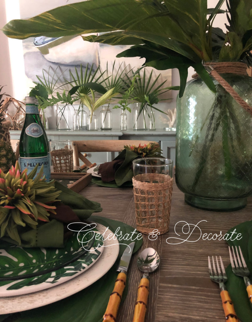 Tropical tablescape for summer