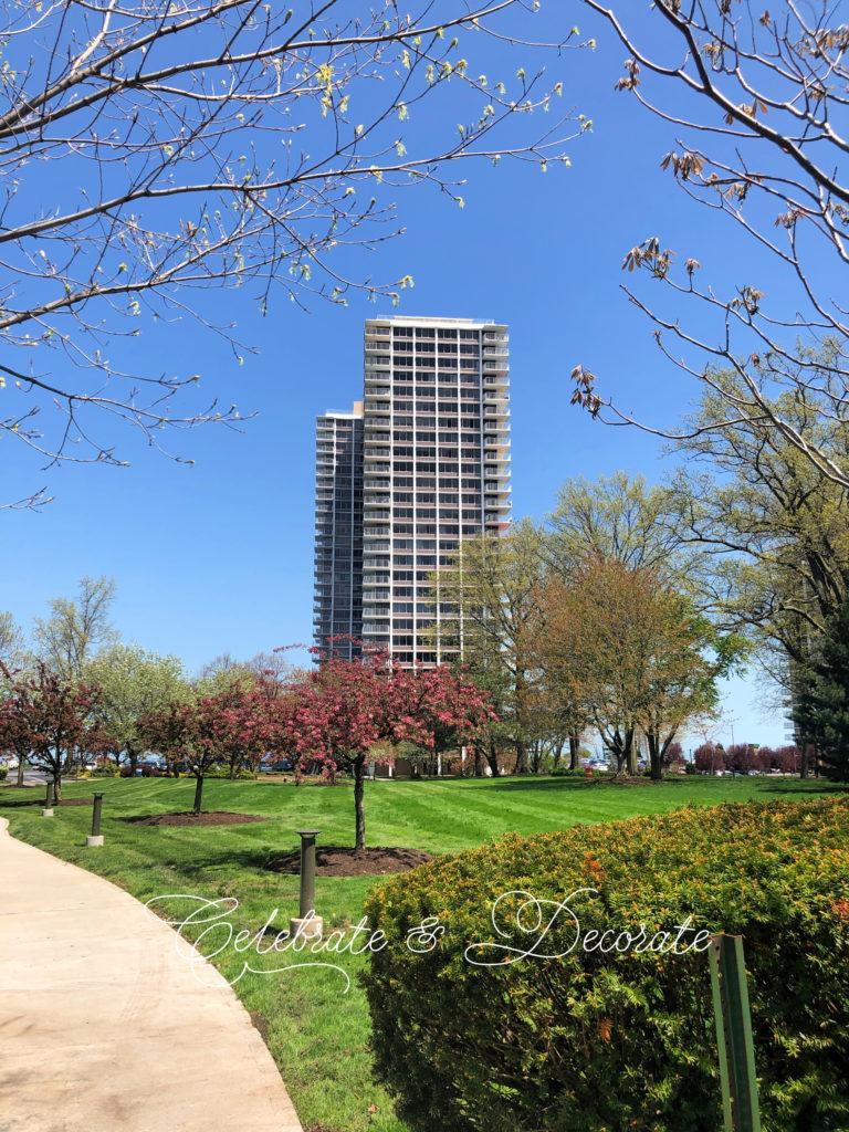 Mid Century high rise condominium building