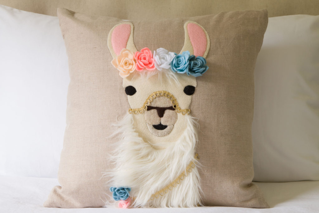 Adorable Llama pillow