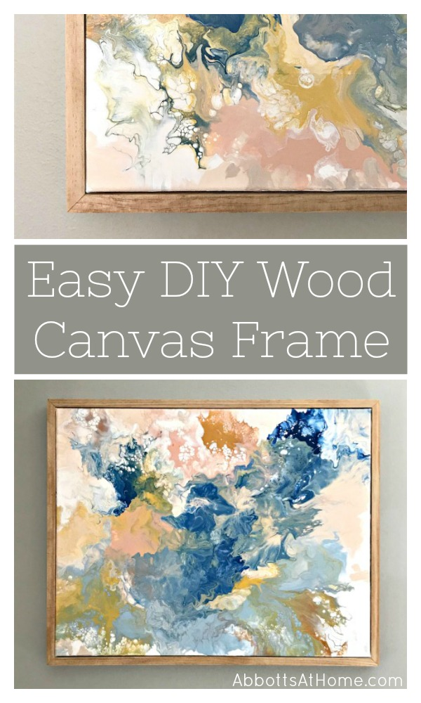 canvas artwork with simple wood frame