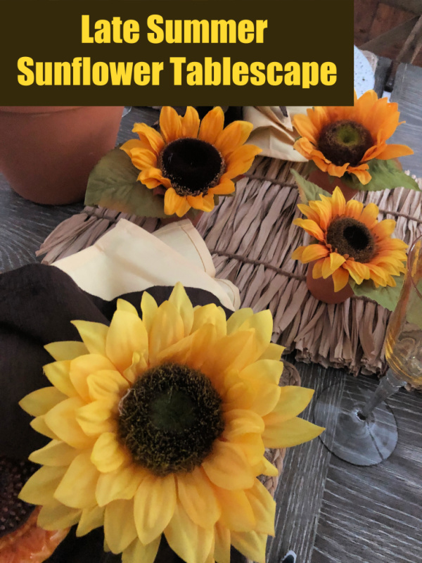 Style a table for late summer with big and bold sunflowers