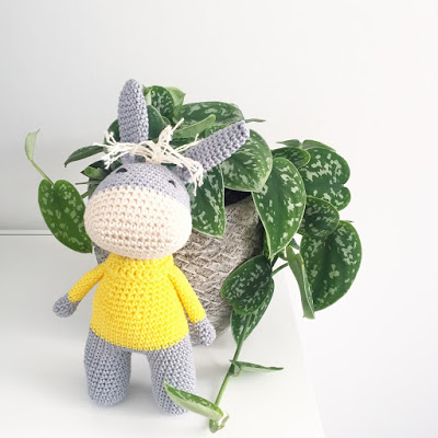 Cute little crocheted donkey