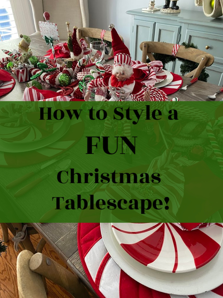 How to style a peppermint christmas tablescape