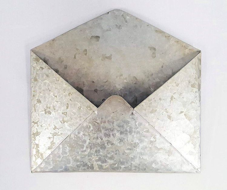 Galvanized metal envelope