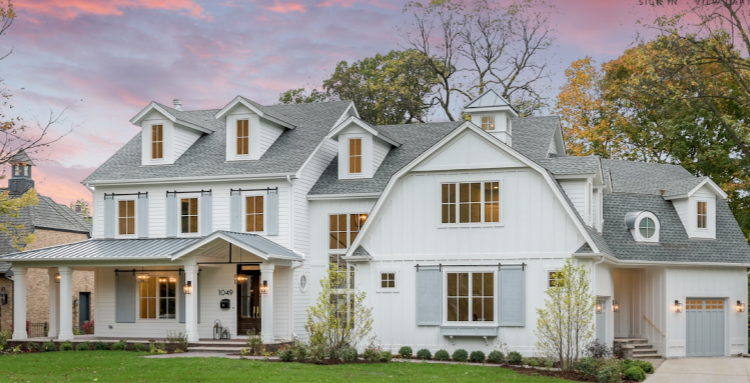 Picture perfect white farmhouse