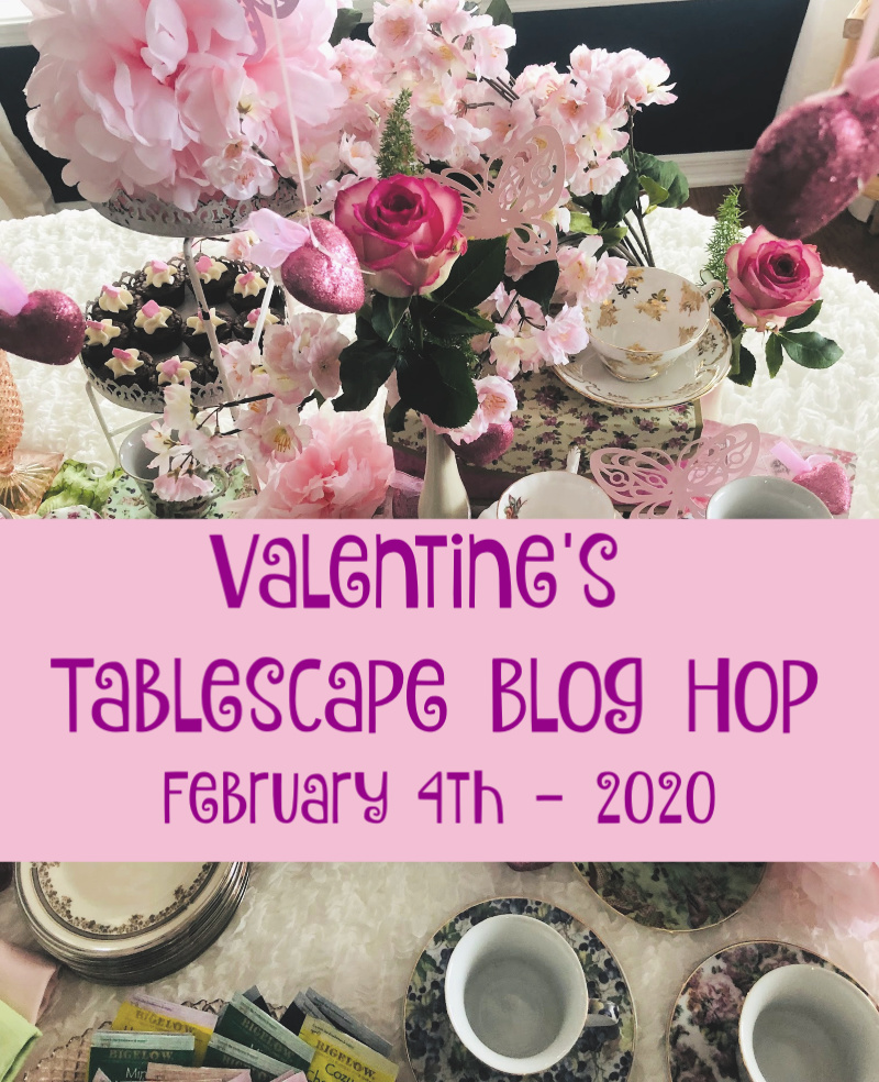 Valentine Tablescape announcement