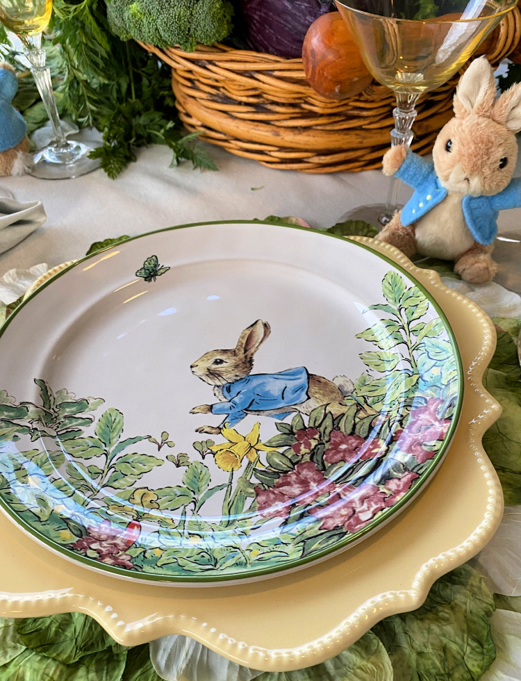 A Peter Rabbit Tablescape For Easter Celebrate Amp Decorate