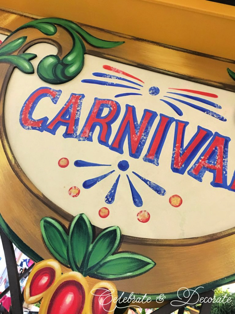 Carnival sign from the 2017 Macy's Flower Show