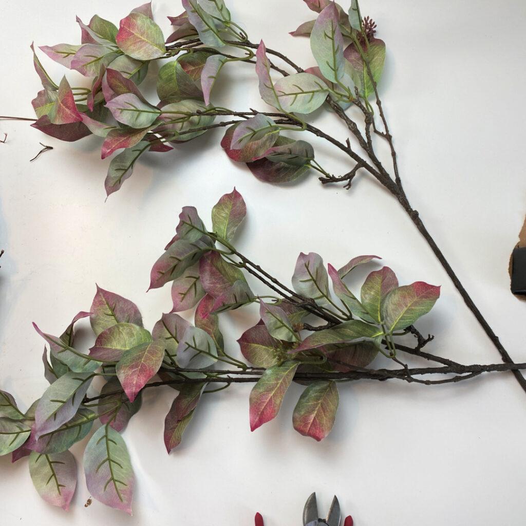 Faux fall dogwood leaves