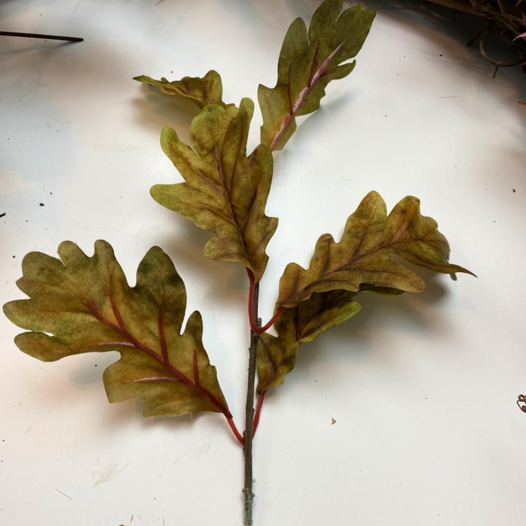 small branch of faux oak leaves