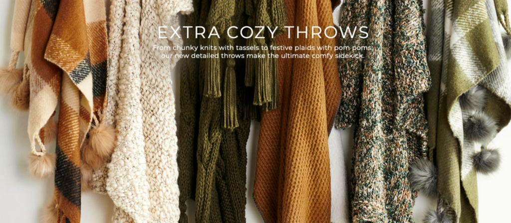 Cozy throws in fall colors