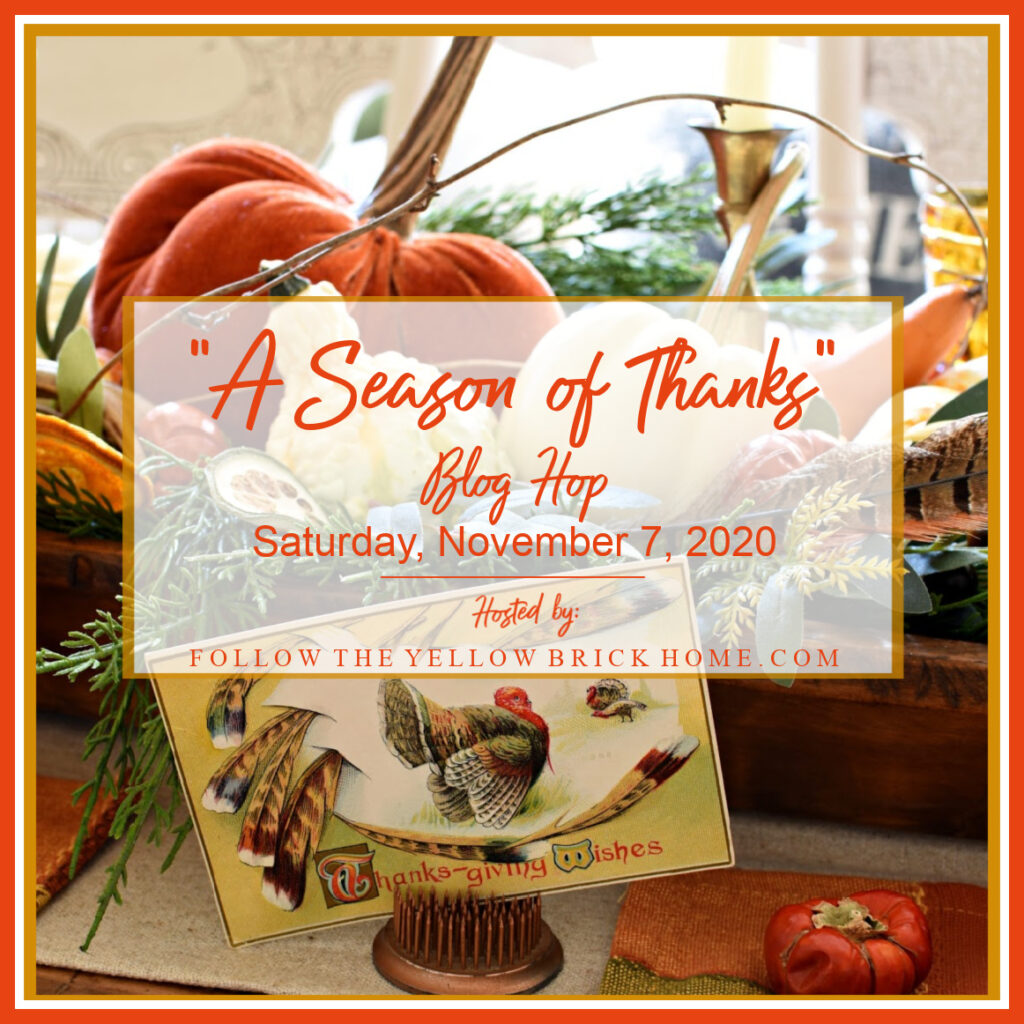 Title page reading A season of thanks blog hop