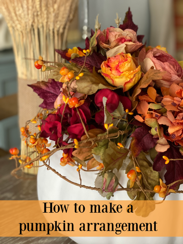 Title page on How to make a pumpkin arrangement