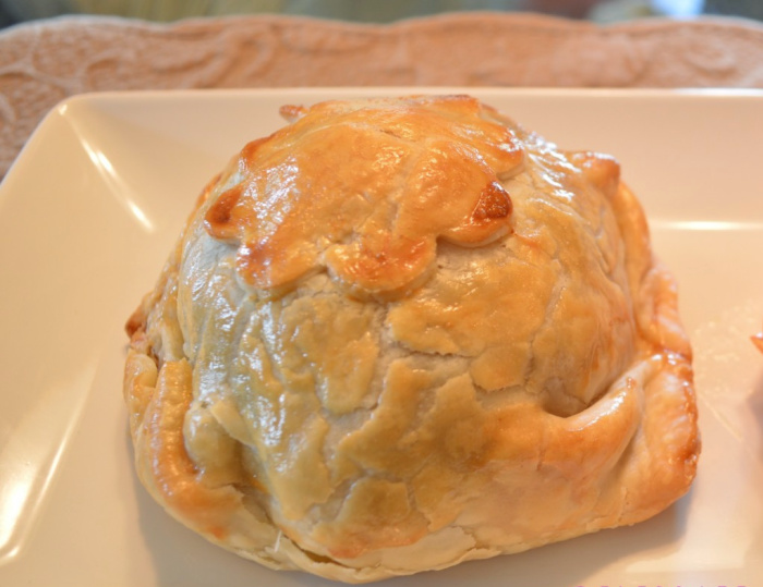 Individual beef Wellington wrapped with delicious pastry